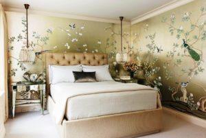 Экологически безопасные обои для спальни