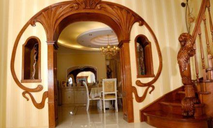 Оформление арки в межкомнатном дверном проёме