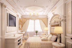 лепной декор в интерьере гостинной
