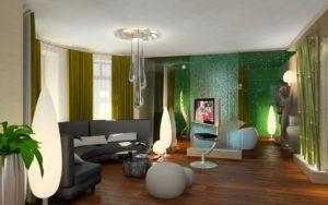 Эко стиль в интерьере гостинной, спальни, кухни
