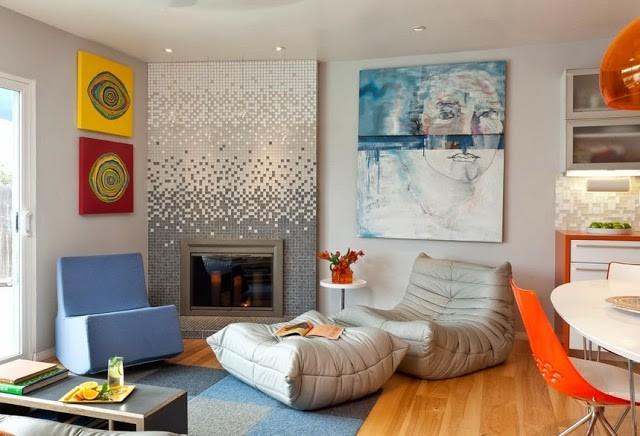 Мозаика в интерьере жилых комнат