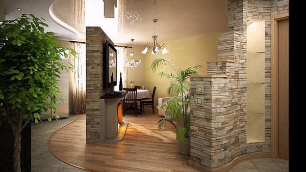гибкий камень в интерьере смотрится гораздо лучше и является более практичным благодаря своим свойствам.