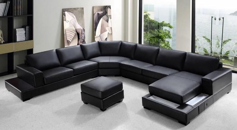 U-образная форма секционных диванов