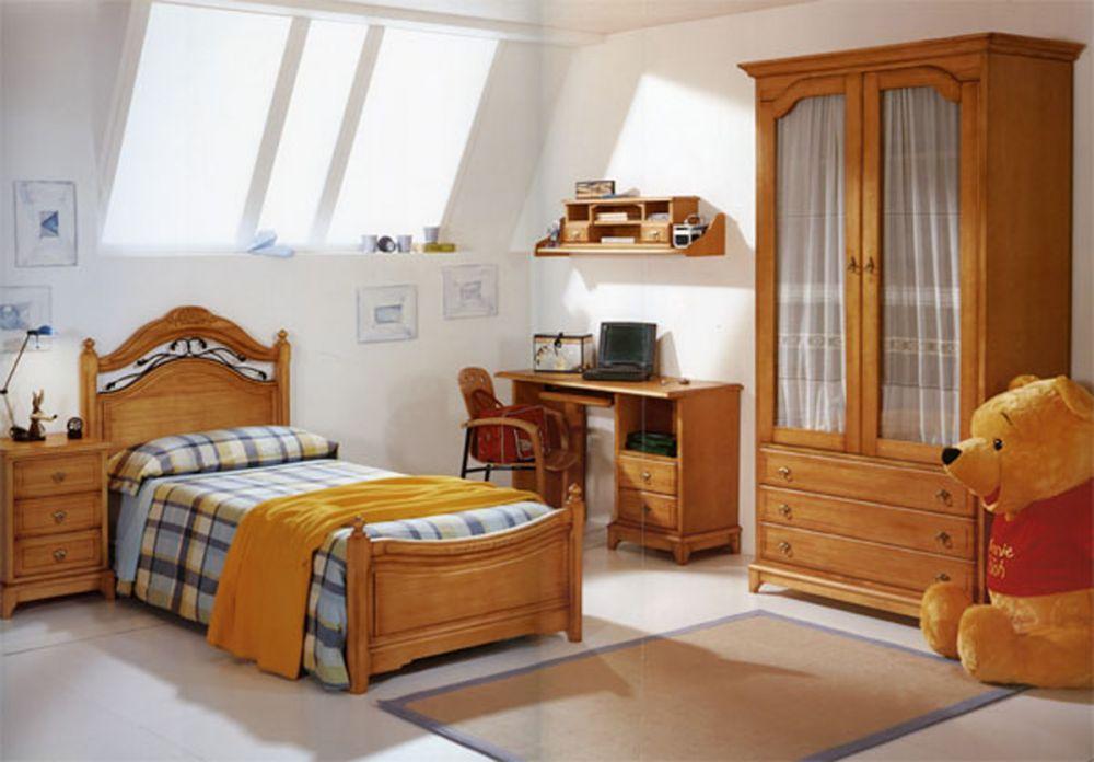 мебель для детской комнаты из натурального дерева