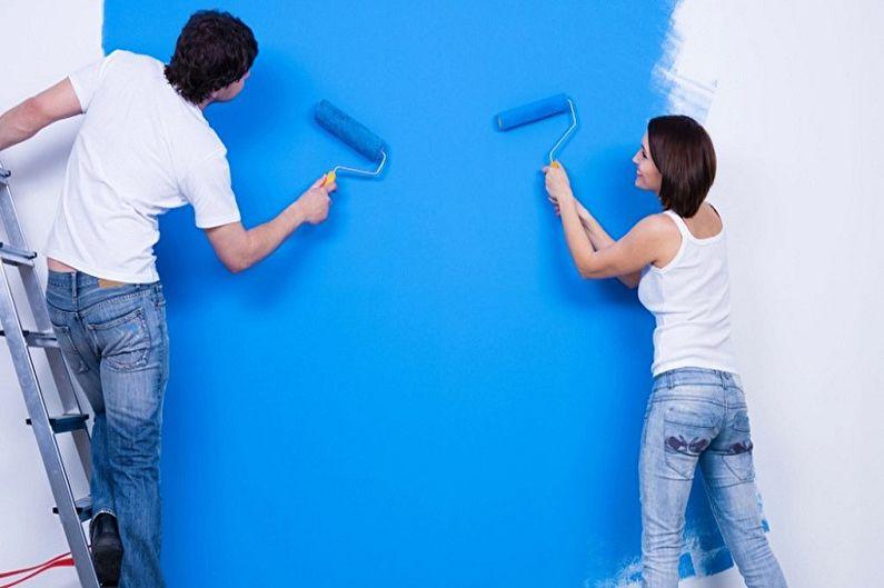 технология покраски водоэмульсионной краской