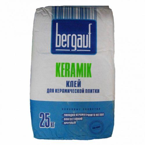 клей для керамогранита бергауф керамик