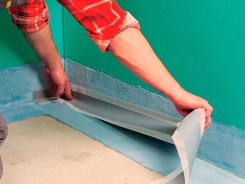 гидроизоляционная лента для стыков пола и стен