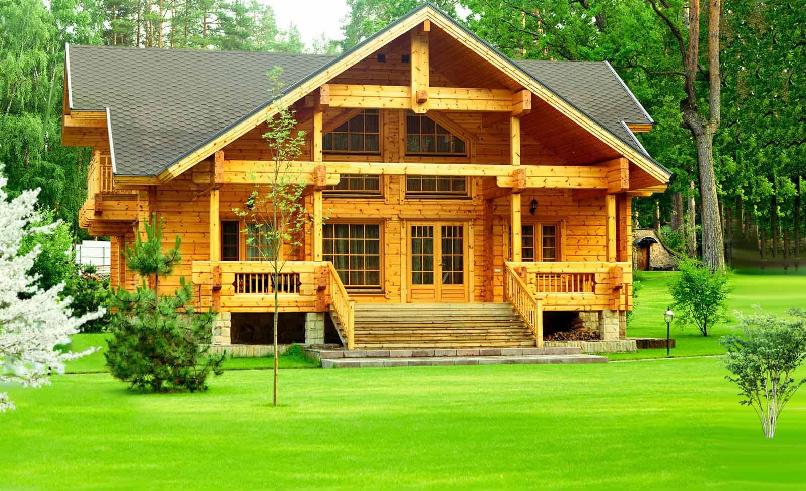 Возведение деревянных коттеджей