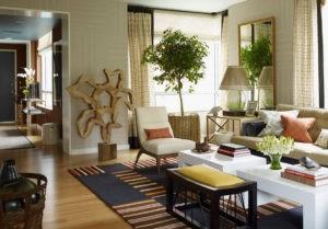 Эко стиль в интерьере гостинной