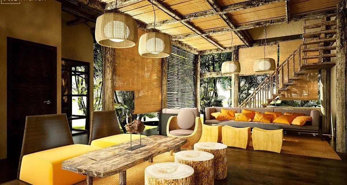Эко стиль в интерьере гостиной, спальни, кухни