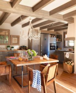 Эко стиль в интерьере кухни.