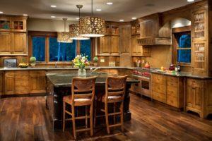 пол кухни в стиле кантри