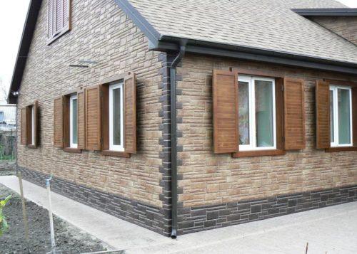 фасадные панели для отделки наружных стен дома