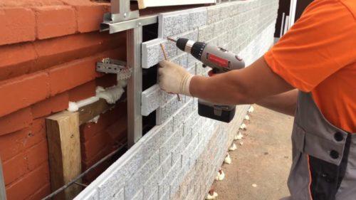 монтаж фасадных панелей на каркас