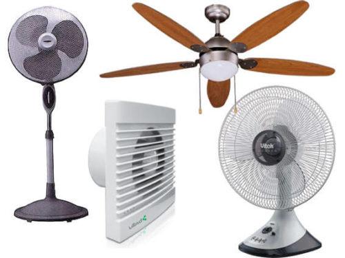 Выды вентиляторов для дома