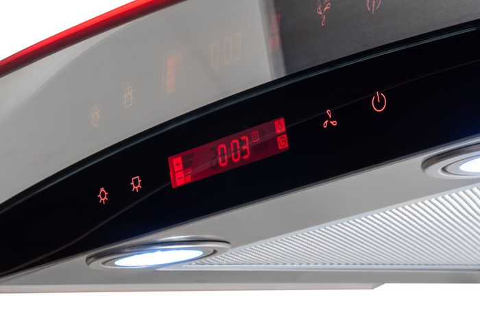 панель управления кухонной вытяжки