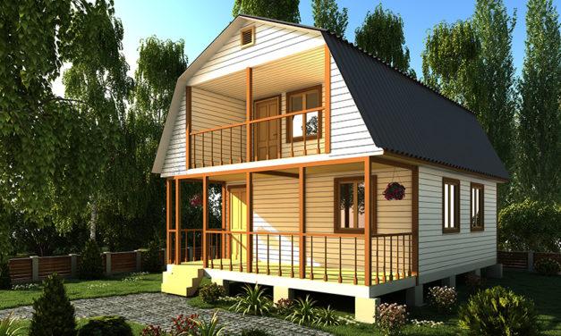 Каркасные дома 6 на 10 с мансардой