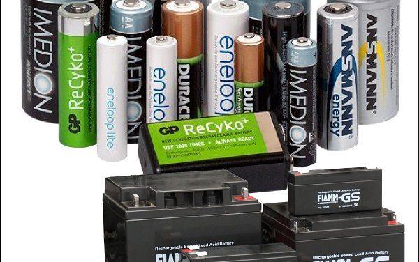 Различные типы батареек и аккумуляторов и их применение