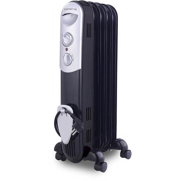Лучшие обогреватели для дома - масляный радиатор Polaris CR 0512B COMPACT чёрный