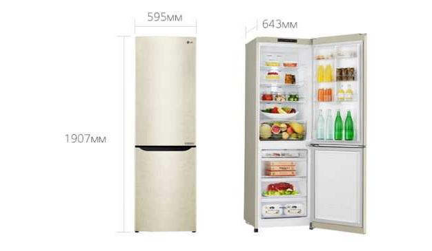 Встроенный холодильник LG GA-B429 SECZ бежевый