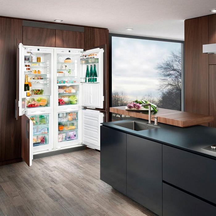 Лучший встраиваемый холодильник серии SIDE BY SIDE Liebherr SBS 70I2 comfort No Frost