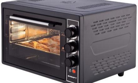 Настольная мини печь Kraft KF-MO3804RKBL – цена, отзывы, технические характеристики
