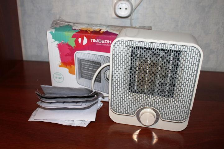 Компактный экономичный тепловентилятор Timberk TFH T15NTX