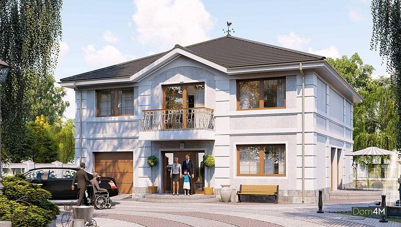 двухэтажный особняк с гаражом от Dom4M
