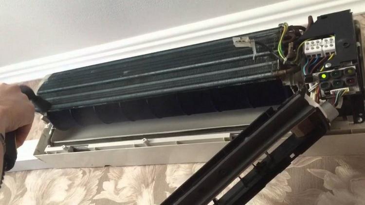 Чистка вентилятора внутреннего блока кондиционера