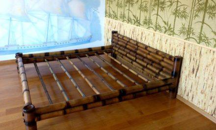 Необычная и полезная кровать из бамбука